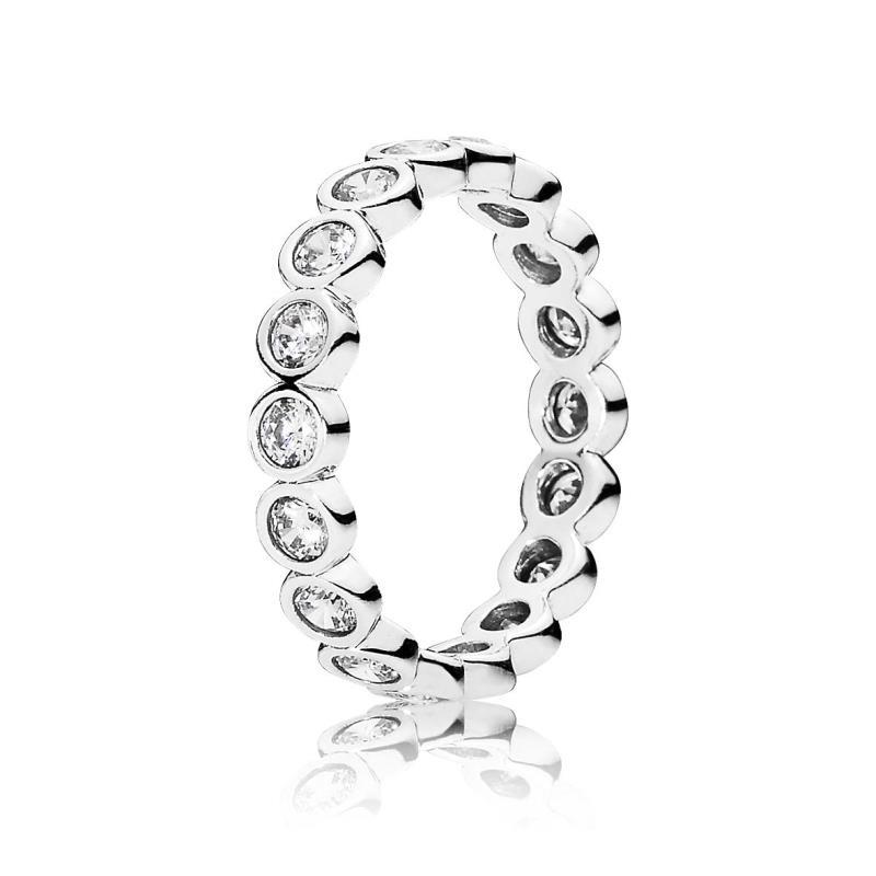 anillo pandora brillantes