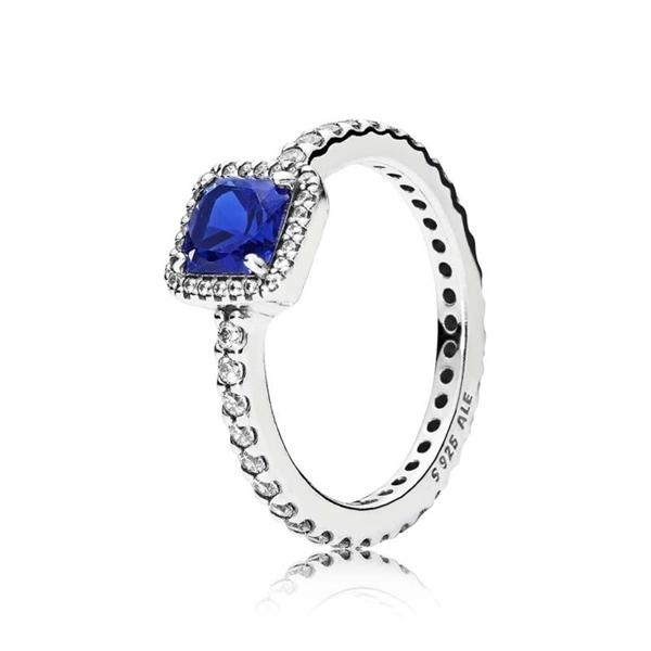 Anillo PANDORA elegancia atemporal azul 190947NBT