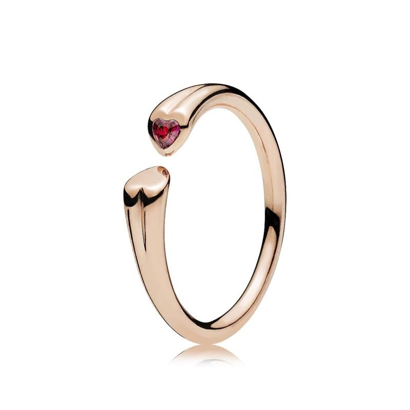 anillo rosa pandora