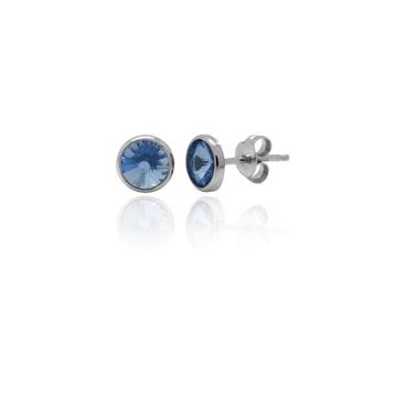 Pendientes cristal Swarovski azul zafiro