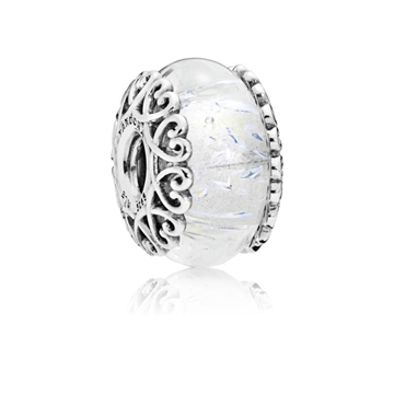 Foto de Charm PANDORA cristal blanco iridiscente