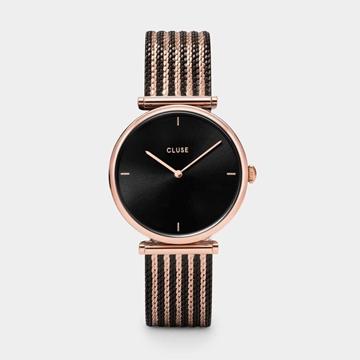 Foto de Reloj CLUSE triomphe malla bicolor oro rosa negro