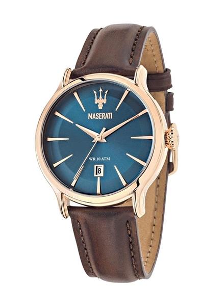 Foto de Reloj  MASERATI epoca blue dial brown strap