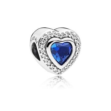 Foto de Charrm Corazón Azul en  Plata de Ley