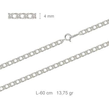 Cadena Redonda Picada   Plata de Primera Ley 50 cm